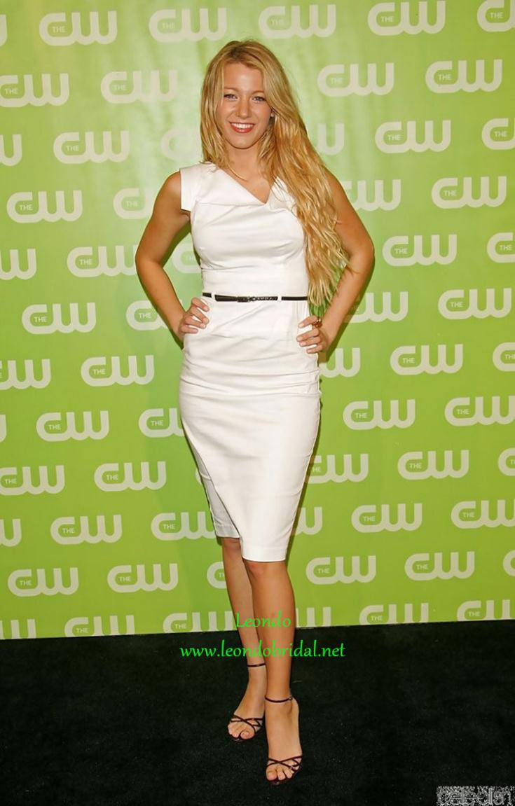 Blake Lively White Cocktail Dress at CW Network Upfront Red Carpet ...