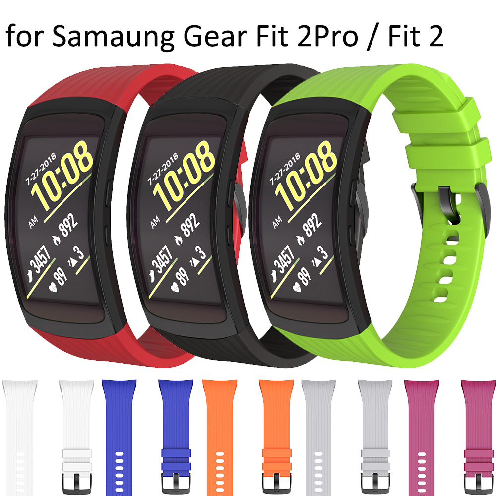 L/S Replacement Wristband for Samsung Gear Fit 2 Band Soft Silicone Watchband for Samsung Gear Fit 2 Pro / Fit 2 SM-R360 Strap