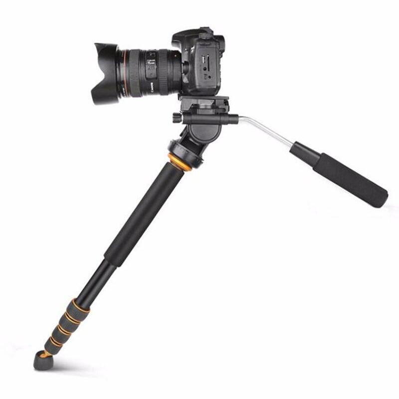 Q188 monopode vidéo professionnel en aluminium monopode de voyage avec tête fluide pour Canon Nikon Sony caméscope caméra vidéo
