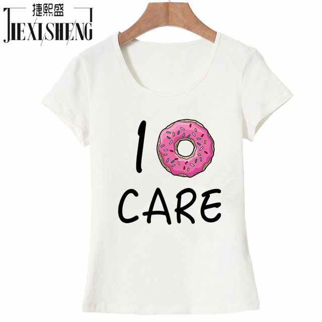 139c8fe36 Hot Summer Women T-shirt I Donut CARE Letter T Shirt Funny Print Tees  Couple Tops