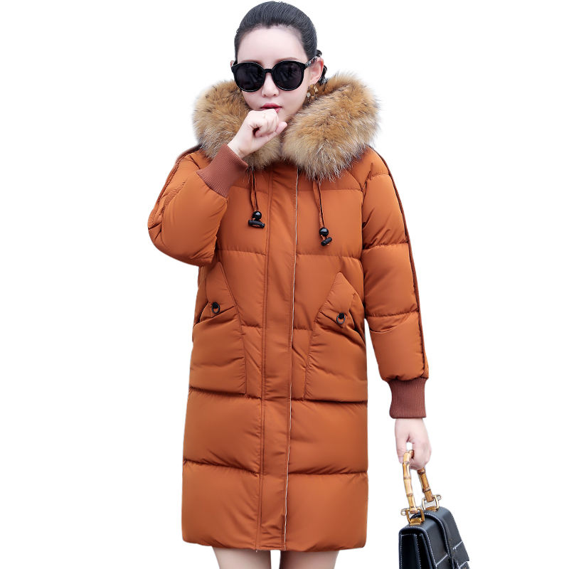 Winter Jacket Women Fur Collar Hoodies Woman   Parka   Abrigo Mujer Womens Coats Thicken Down Cotton Female Jacket Long Coat C5124