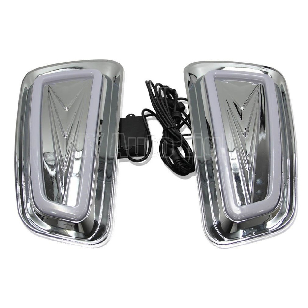 LED Daytime Running Lights For Ford F-150 Raptor SVT 2009-2015 DRL Fog lamps