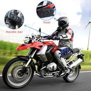 Image 4 - Ejeas e6 plus comunicador para motocicleta, 1200m, comunicador, bluetooth, interfone, fone de ouvido vox, controle remoto para 6 pilotos