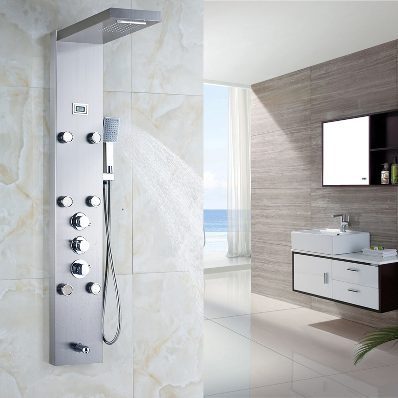 Shower Panel And Jet Rain Shower