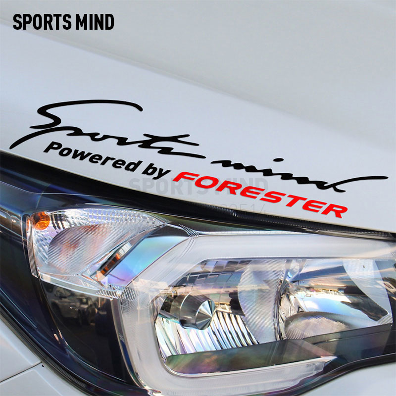 2 Pieces Sports Mind Car Styling On Car Lamp Eyebrow Automobiles Car Sticker For subaru forester exterior accessories