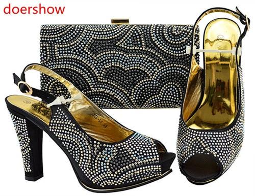 9abb4a53565060 Ensemble Chaussures Et 7 Femmes jaune Assorti Italiennes bleu Italien  Correspondant Hh1 Conception Ensemble Avec Mariage Africaine pourpre rose  ...