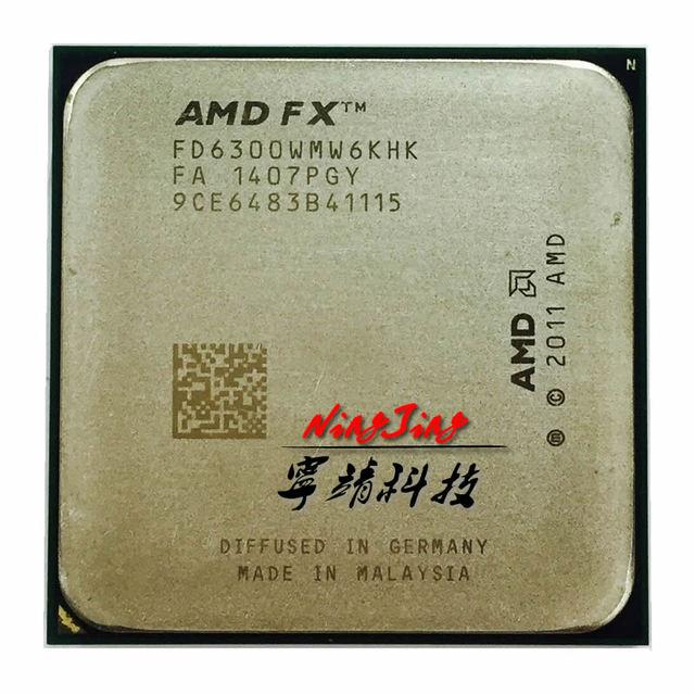 Amd fx série fx6300 fx 6300 3.5 ghz, processador central de seis núcleos, soquete am3 +