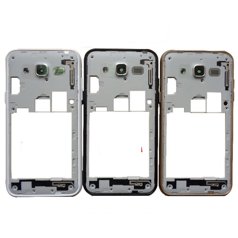 Original new Middle Bezel Frame For Samsung Galaxy J5 J500F 2015 J7 j700 Housing Door Chassis Cover Case with side button