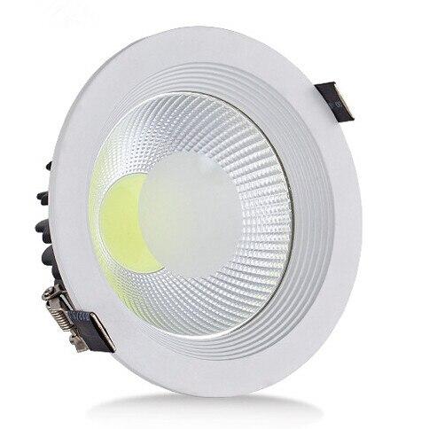 Livraison gratuite 30 W LED plafonnier COB lampe LED vers le bas lumière encastrée lampe à LED blanc chaud blanc froid pour la maison AC85-265V