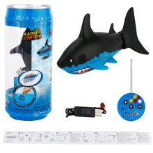 Shark Shape RC Electric Fish Toys High Speed Diving Toy 3-CH Remote Control Game Swimming Shark Toys Birthday Gift for Children