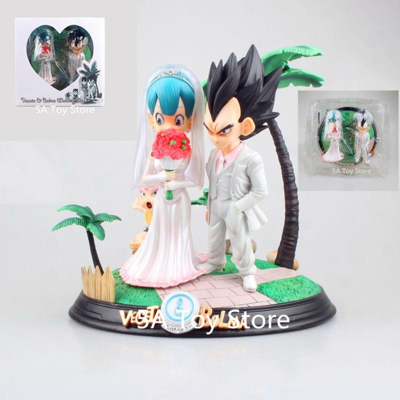 Anime Dragon Ball Z Figure  Wedding Bulma And Vegeta Wedding Day PVC Action Figure Toy Collectibele Model Doll ToyAnime Dragon Ball Z Figure  Wedding Bulma And Vegeta Wedding Day PVC Action Figure Toy Collectibele Model Doll Toy