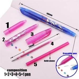 Image 3 - Stylo ou recharges à bille effaçable, 80 pièces, stylo à bille, encre de couleur, 0.5mm, stylo Gel à base deau, papeterie