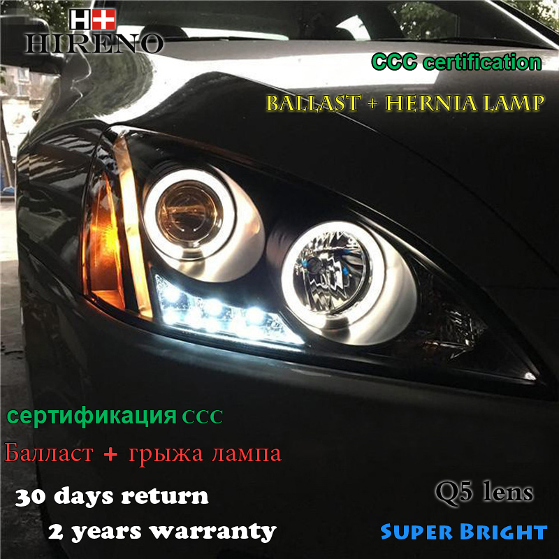 Hireno Car styling Headlamp for 2003-2007 Honda Accord Headlight Assembly LED DRL Angel Lens Double Beam HID Xenon 2pcs hireno car styling headlamp for 2007 2011 honda crv cr v headlight assembly led drl angel lens double beam hid xenon 2pcs