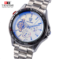 TEVISE Korean Fashion Men's Watch Stainless Steel Mechanical Wristwatches Exquisite Waterproof Male Watches watch men 796FL