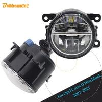 Buildreamen2 For Opel Corsa D Hatchback 2007 2015 Car Accessories 4000LM Front LED Bulb Fog Light Daytime Running Lamp DRL 12V