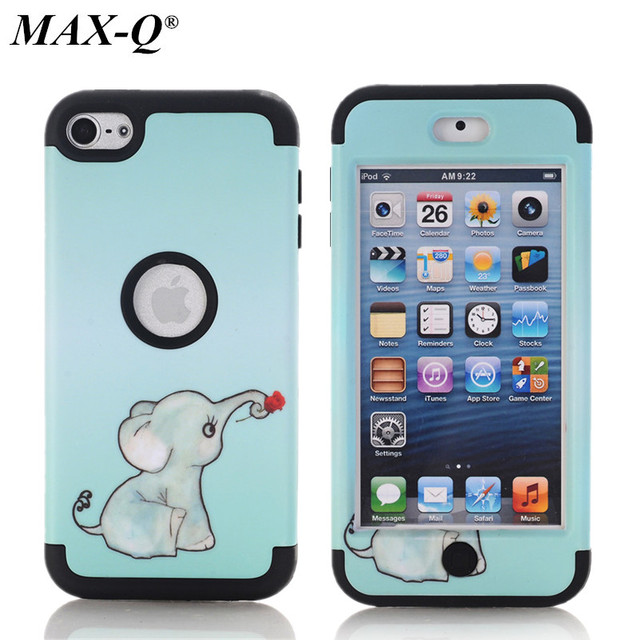 best website 826e9 614a3 US $7.49 |For Apple iPod Touch 6 6th Generation Case owl flowers elephant  pattern Cases Rubber Silicone + PC Hybrid Case Covers Fundas-in Fitted  Cases ...