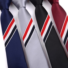 цена на 5cm Mens Ties New Man Fashion Striped Neckties Slim Tie Business Tie For Men Wine Red Black Silver Navy Gravata Borboleta 2020