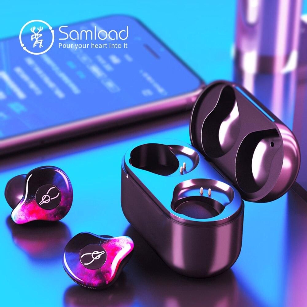 Samload True Wireless Earphones Bluetooth 5 0 ear bud Deep bass Headphones Sweatproof Sport Headset For
