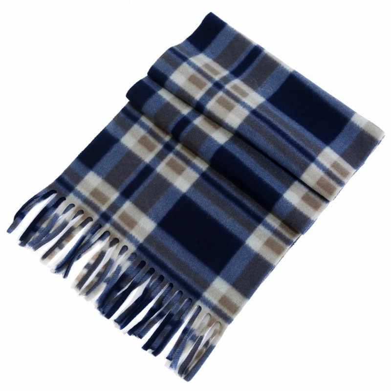 Женский бархатный клетчатый шарф осень зима женские кашемировые шарфы широкие решетки длинная шаль обертывание одеяло теплый палантин