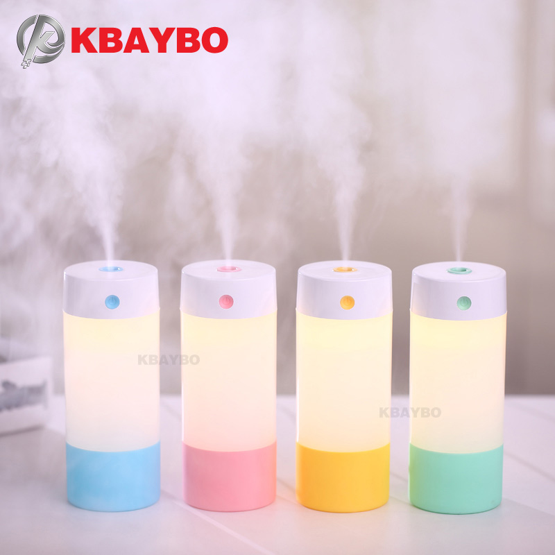купить 250ML Ultrasonic Humidifier USB Car Humidifier Mini Aroma Essential Oil Diffuser Aromatherapy Mist Maker Home Office