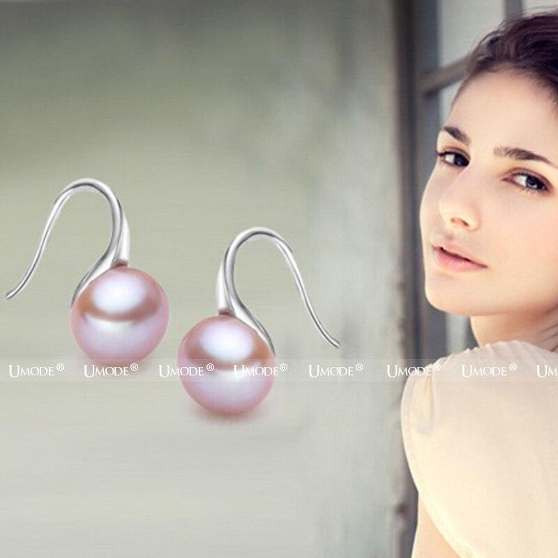 UMODE Mote ekte naturlig ferskvann perle øredobber 925 sterling - Fine smykker - Bilde 2