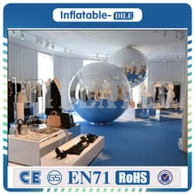 Free Shipping 1m PVC Inflatable Mirror Ball Surface Christmas Disco Light