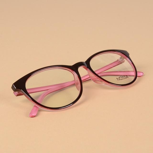 fcc8f11135b Women s Elegant Simple Style Optical Glasses Frames Pink Fashion Super  Light Eyewear Frame Men Clear Spectacles Myopia Frames