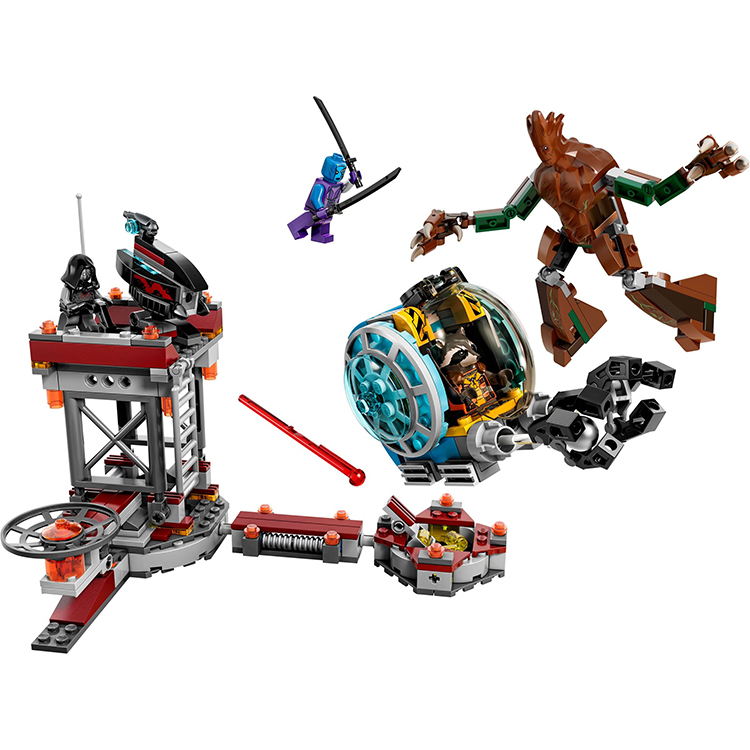 Pogo Lepin Guardians Of Galaxy Super Heroes Avengers Marvel Building Blocks Bricks Toys Compatible Legoe moc the iron man work station hall of armor war machine super heroes avengers building blocks kids toys not include minifig