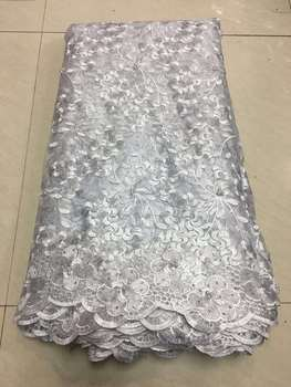 2019 Latest French Nigerian Laces Fabrics High Quality Tulle African Laces Fabric Wedding African French 3D Lace fabric Z25