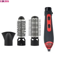 3 in 1 Multifunctional Styling Tools Hairdryer Hair Curling Straightening Comb Brush Hair Dryer Professinal Salon 220V 1200W