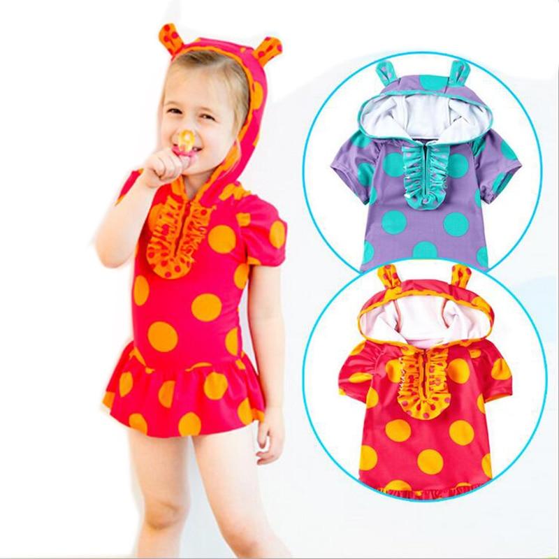 2017 Hot Swimsuit Girls Cute Swimwear Summer Children Bathing Suits Hot Springs Swim Skirt Kids Beautiful One Piece Swimwear недорого