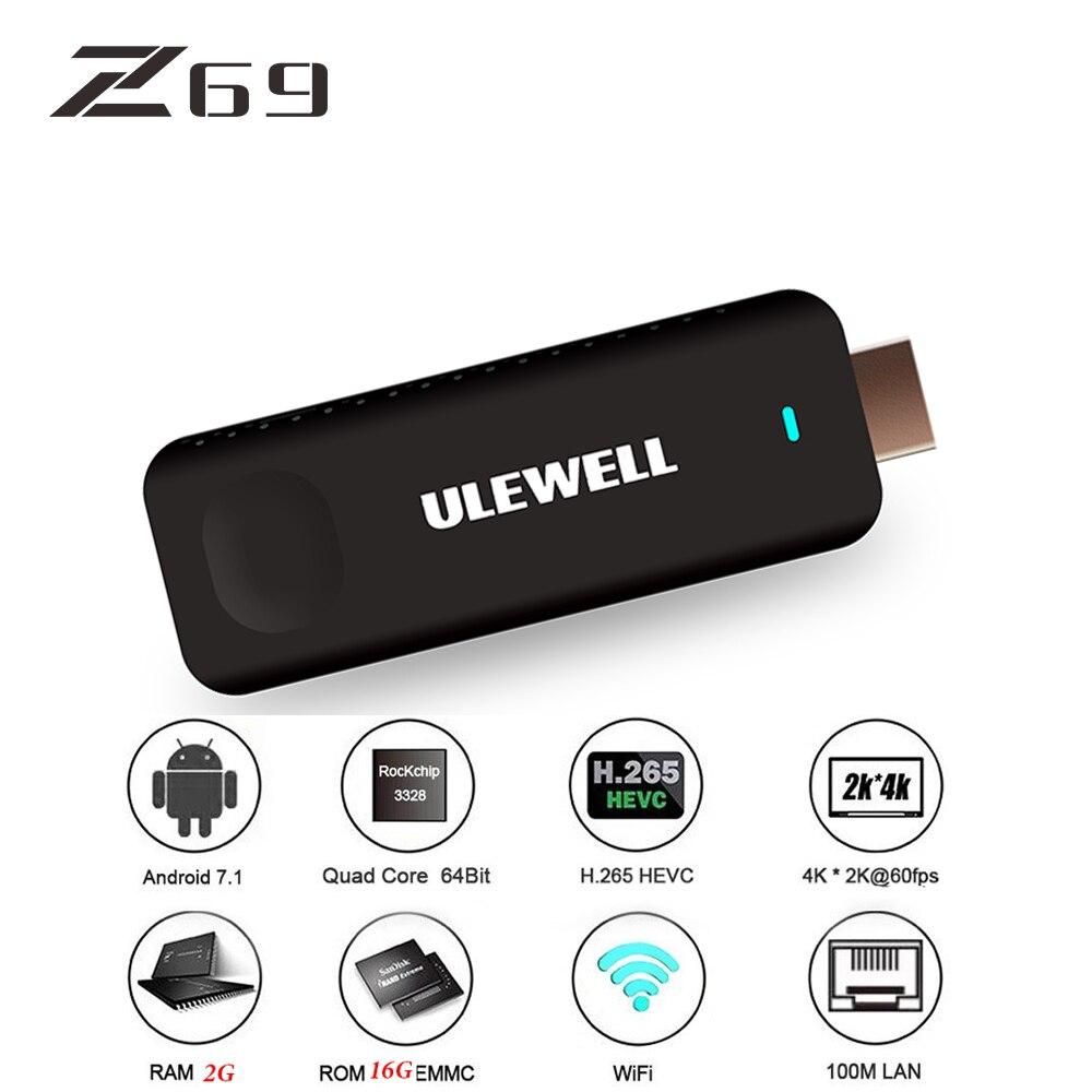 Z69 ULEWELL TV Stick Dongle Z28 MINI TV Box 2G 16G HDMI 2.0 RK3328 Quad-Core 64bit 1080p Full-HD pvt 898 5g 2 4g car wifi display dongle receiver airplay mirroring miracast dlna airsharing full hd 1080p hdmi tv sticks 3251