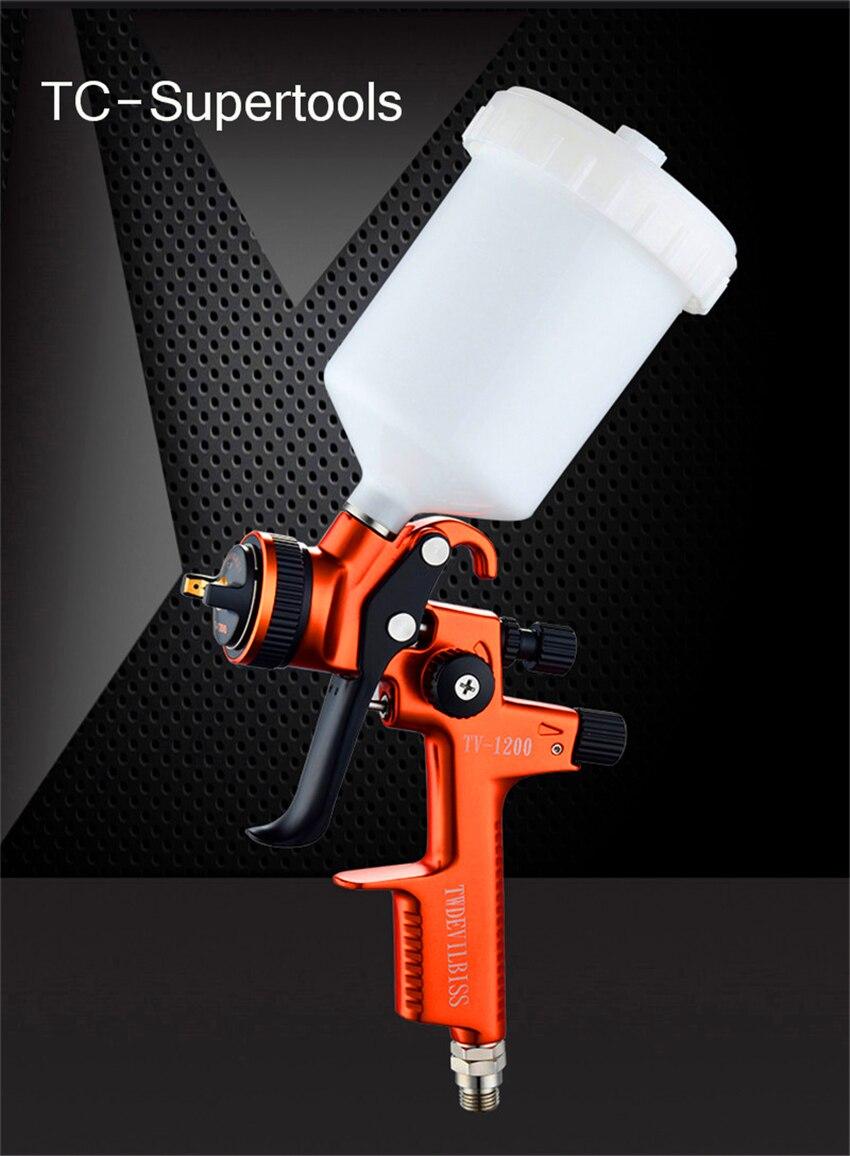 Профессиональный гравитационный краскопульт, краскопульт для окрашивания автомобиля, высокоэффективный RP 1,3 мм, насадка lisson