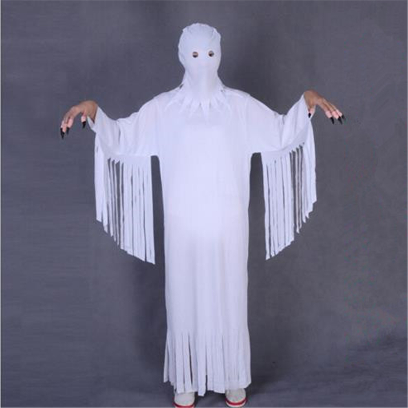 Halloween Cosplay Costume Prom Zombie Demon Costume Adult Children White Ghost Clothes Ghost Costume For Men And Women Apply