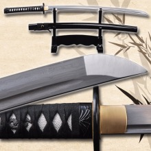 Decoration Metal Craft Folded Steel Katana Sharpened Blade  Full Tang Samurai Sword Hand Forged  Knife