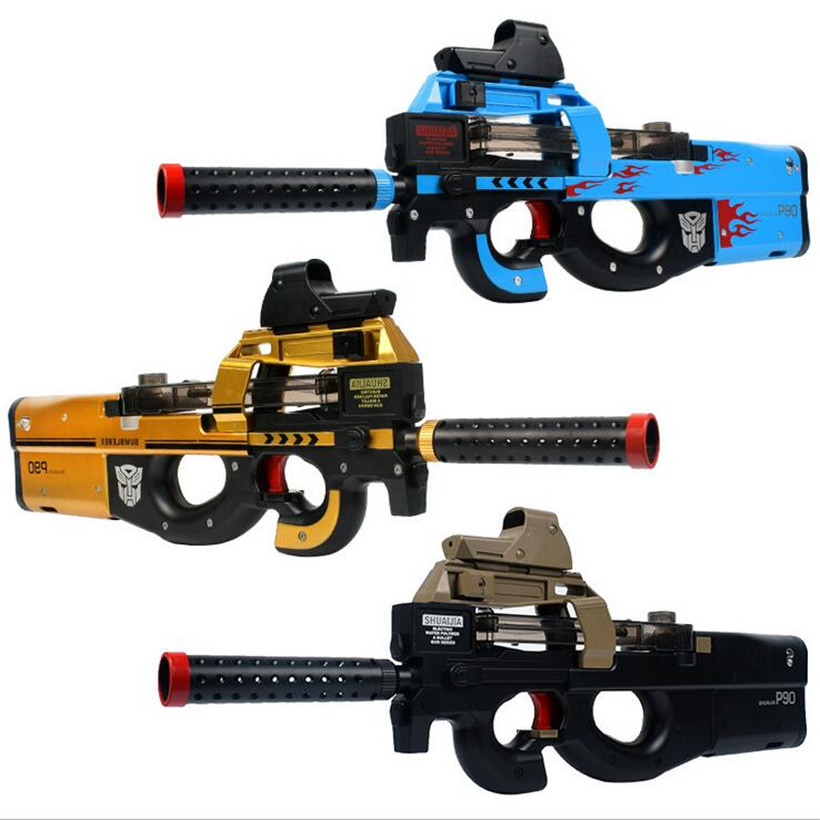 P90 Electric Toy Gun Outdoor Live CS Orbeez Paintball Weapon Soft Water Bullet Airsoft Pistol With Bullets Toys Sports Game