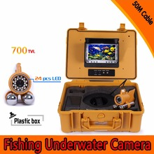 (1 Set) 50M Cable 7 inch TFT-LCD Color Screen HD700TVL CMOS Fish finder Inspection Camera Underwater Fishing camera dual-pandent