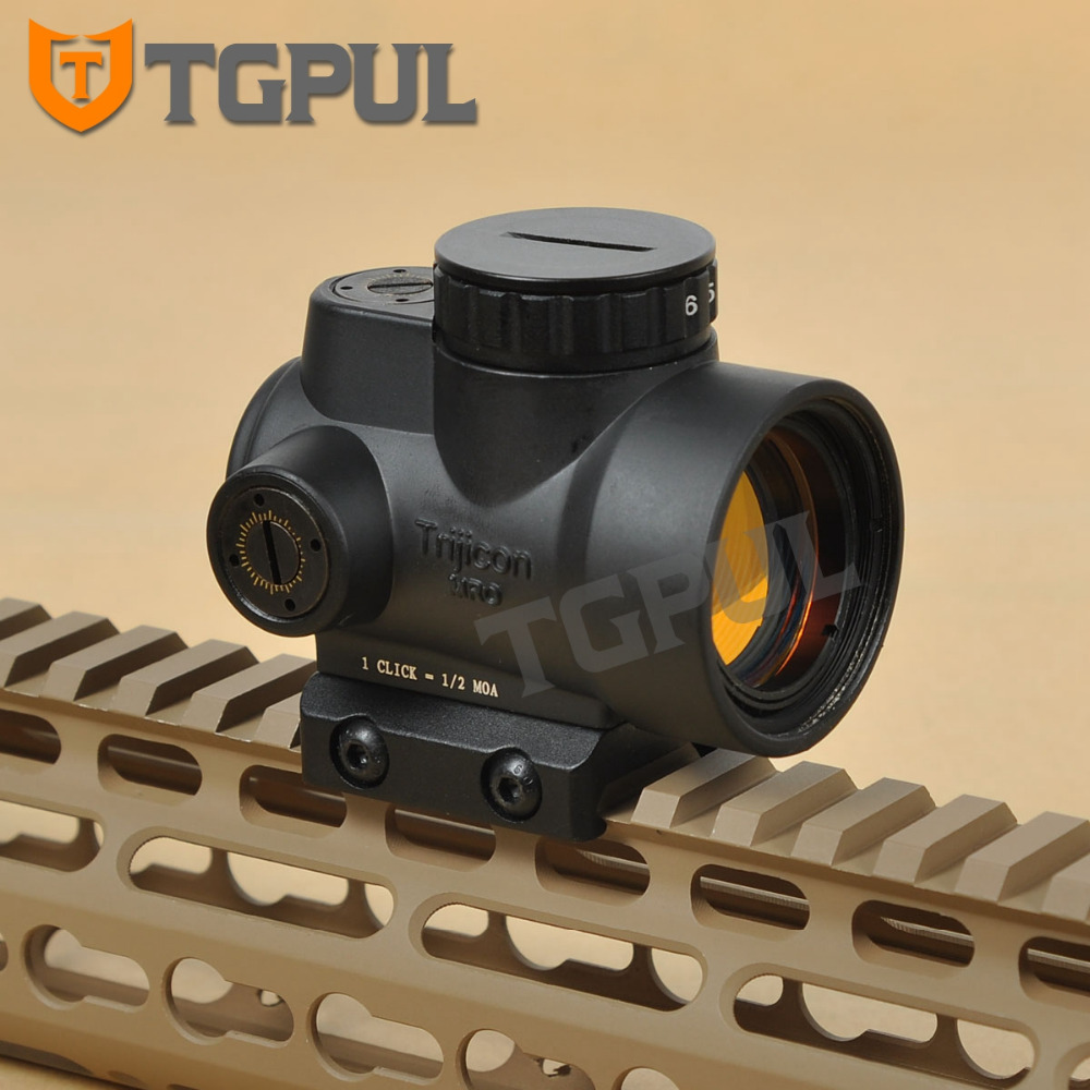 TGPUL MRO Rifle Red Dot Sight Shotgun Aiming Hunting Scope Riflescope Illuminated Gear Shockproof Tactical Rifle Scope for Sale trijicon mro airsoft holographic red dot sight shotgun scope hunting riflescope illuminated sniper gear for tactical rifle scope