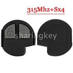 Darmowa wysyłka (1 sztuka) zamiennik pilota SX4 klucz zdalny 2 przycisk 315MHZ 3T dla Suzuki (TY) z dobrej jakości buttons buttons buttonsbutton remote -