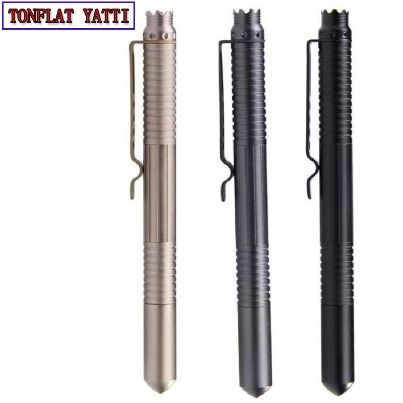 Self Defense Tactical Pen Tactico Militar Personal Defense EDC Portable Pen Aviation Aluminum Alloy Auto Defesa B1 Weapons FC