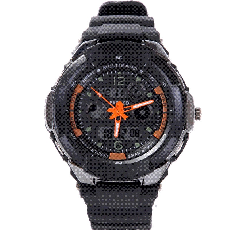 3 needle dual display alarm clock male fashion led electronic watches luminous sports table waterproof watch