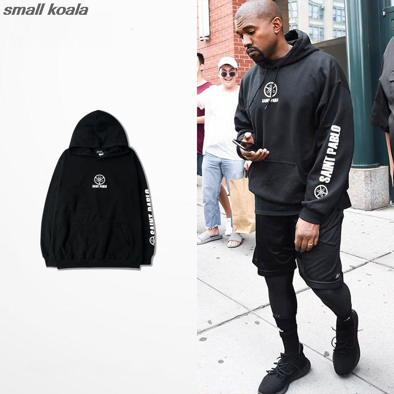 Hoodie Men Hip Hop For Big Man Tracksuit Kanye West Tour  Season 3 Clothing Camiseta Saint Pablo Sweatshirts