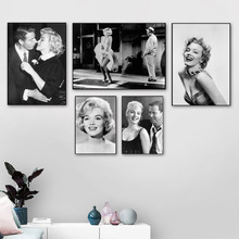 Marilyn Monroe Classic Wall Art Canvas Painting Black White Nordic Posters And Prints Pictures For Living Room Decor