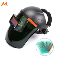 Welding Helmet Welder Protection Mask with 5pcs Exterior Lens