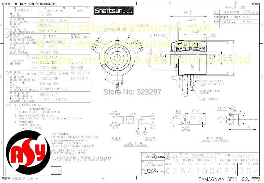TS2641N31E64 Rotary Encoder TAMAGAWA Resolver BRX Smartsyn aliexpress com buy ts2641n31e64 rotary encoder tamagawa resolver heidenhain encoder wiring diagram at soozxer.org
