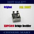 5 unids/lote 50 Amp 50A 1000 Volt 1000 V caja de Metal puente rectificador septiembre KBPC5010 puente de diodo #LS302
