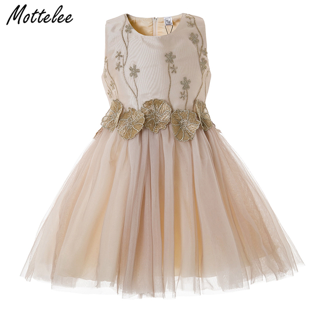 d5f47ddcd Mottelee Girls Flower Dress Baby Birthday Party Dresses Elegant ...