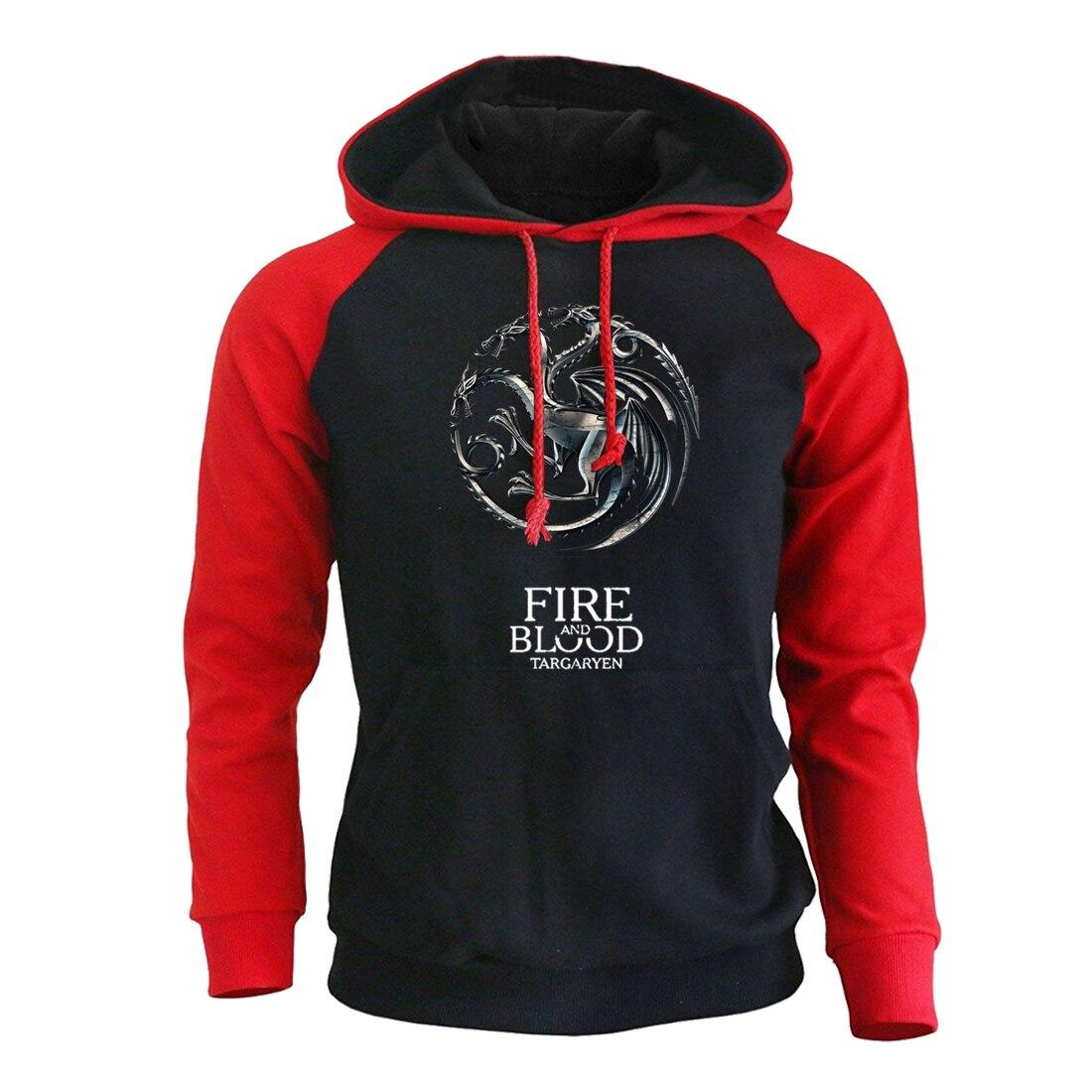 Men's Sweatshirts 2019 Spring New Arrival Hoodies Men Game Of Thrones Hoody Fire And Blood Sweatshirt For Men Hoodie Streetwear