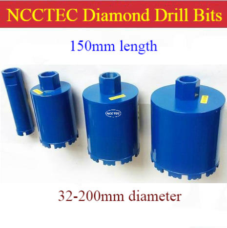 1.26''-8'' * 6'' Short Crown DRY Diamond Drill Bits Wire Box Hole Opener | 32-200mm * 150mm Reinforced Concrete Range Hood