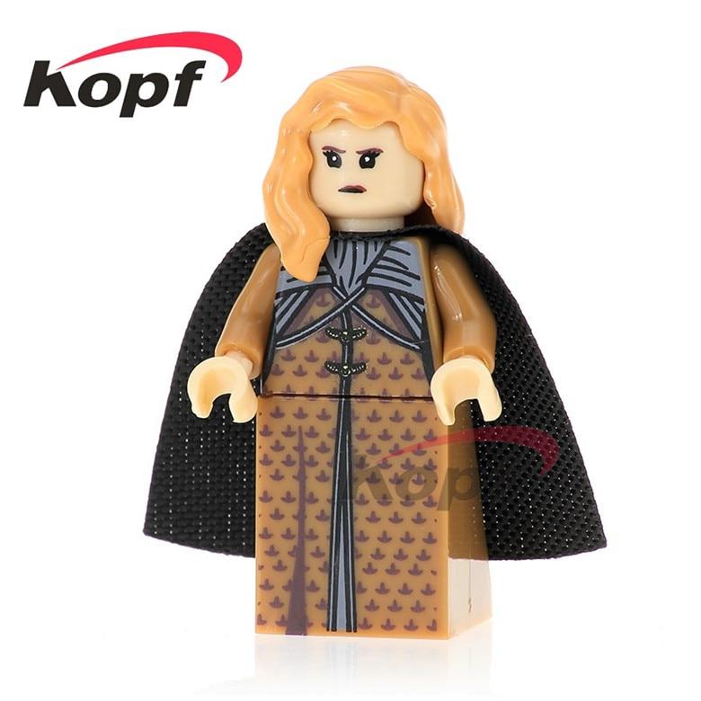 20Pcs Building Blocks Game of Thrones Sansa Stark Duke of Winterfell Khal Drogo Ice and Fire Bricks Toys for children PG1053